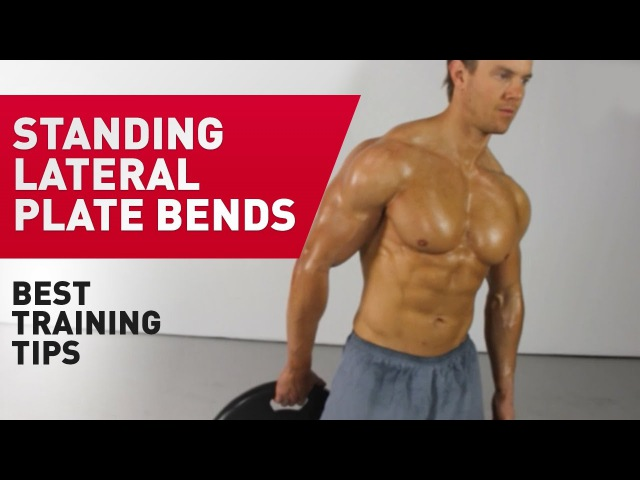 Standing Lateral Plate Bends Technique FitABS Exercise Guide