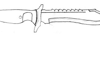 чертеж охотничьего ножа из cs go