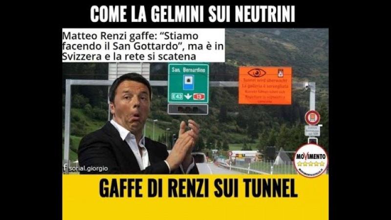 Renzi mente sul referendum speriamo abbia scoperto che il San Gottardo è in territorio svizzero