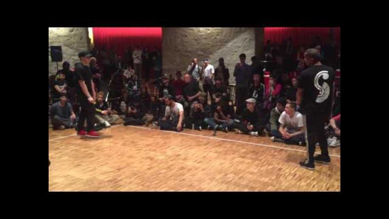 2016 TOP8 1on1 BBoy Battle Au-delà des préjugés Hatsolo vs Chakal