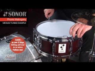 Tuning examples del rullante Sonor Phonic mahogany SSE 515 MR