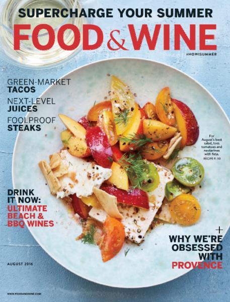 Food Wine August 2016