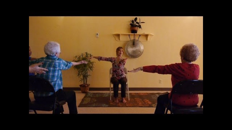 1 Hour Chair Yoga Class to Energize and Loosen Up with Sherry Zak Morris, E-RYT