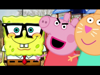 Свинка Пеппа. Спанч Боб предложил встречаться Пеппе, Барби Помешала. Мультик для детей. Peppa Pig.