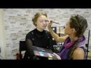 Мария Рублёва выполняет макияж на Любови Полозновой. быстро, чётко и понятно.