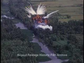 Historic Archival Stock Footage Vietnam War Airstrike 1 White Phosphorus Napalm