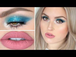 Flirty Teal Glitter & Matte Lips! ♡ Shaaanxo Makeup Tutorial