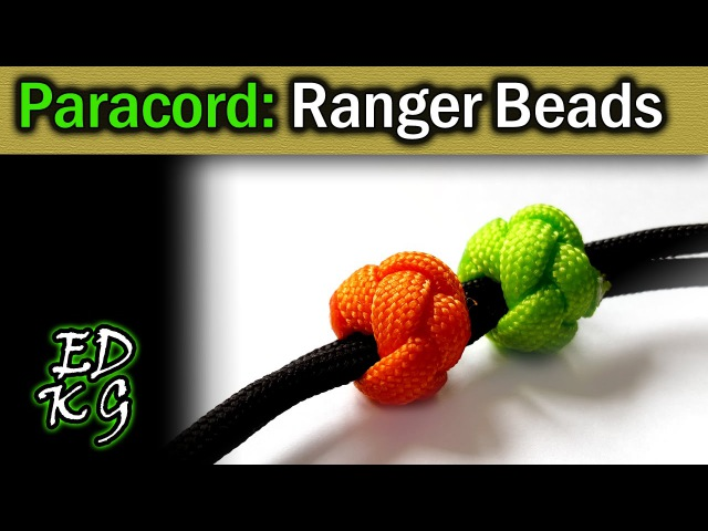 Simple Paracord Ranger Beads using Celtic Button Knot