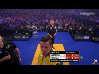 Gary Anderson vs Dave Chisnall (PDC World Darts Championship 2017 / Quarter Final)