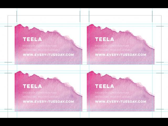 Bulk Print DIY Business Cards Using Illustrator