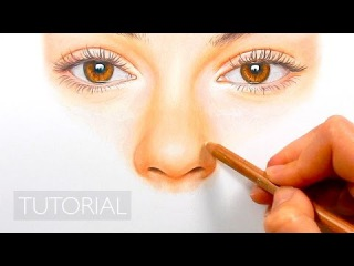 Tutorial | How to draw, color a realistic nose with colored pencils - step by step | Emmy Kalia