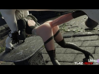 3d porn 2b nier automata sex with horse (preview 1, anal)