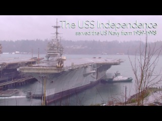 The USS Independence leaves Bremerton