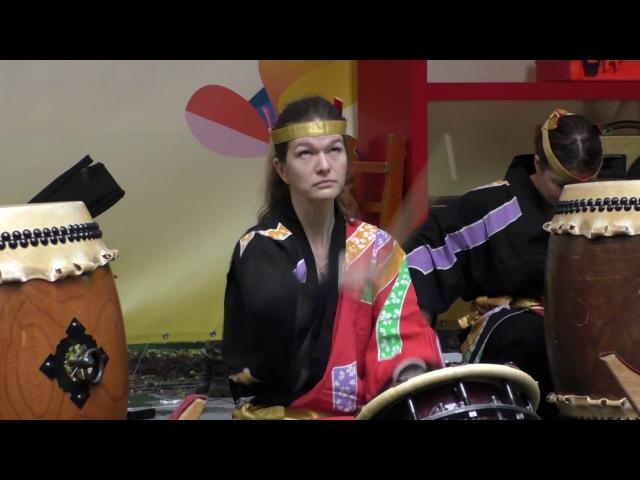 Ансамбль японских барабанов Мияби Истина @ Парк Красная Пресня 25 06 2017