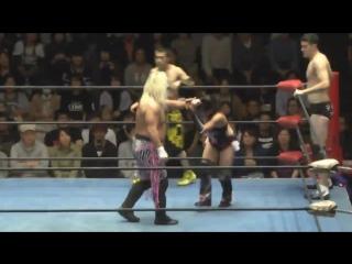 Akiyori Takizawa, Ricky Fuji, Taylor Adams vs. ERINA, Marines Mask, Yoshihiro Horaguchi (K-DOJO - Tokyo Super Big Show)