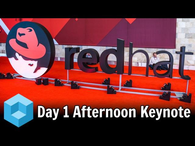 Doug Fisher Jim Ganthier Nayaki Nayyar Keynote Red Hat Summit 2016 RHSummit