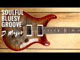 Soulful Bluesy Groove  Guitar Backing Track Jam in D