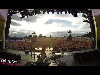 London, england green day crowd singing bohemian rhapsody hyde park july 1st, 2017