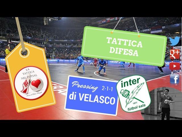 Tattica Futsal Pressing 2-1-1 Inter Movistar di Velasco