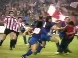 Барселона  Атлетик Бильбао. Финал Кубка Короля 1984. Массовая драка