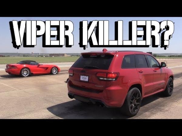 Jeep SRT Trackhawk vs Dodge Viper SRT McLaren 720S BMW M3 F80 McLaren MP4 12C Audi R8 V10 Plus Ford Mustang GT500 Shelby