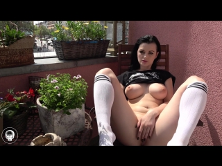 Alissa noir tättowierte brünette (1080p) [amateur, gothic girl, solo, masturbation, big dildo, public, toys, big boobs]