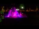 День России, цветной фонтан
