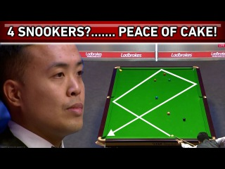 4 SNOOKERS?! OK, NO PROBLEM! Incredible Steal of Snooker Frame!!! Tactical Battle!
