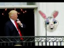 Donald Trump late for Anthem, Melania Trump and Barron Trump White House Easter Egg Roll #BREAKING