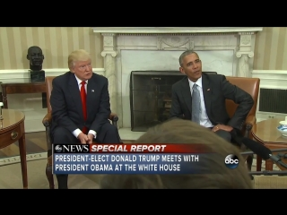 President-elect Donald Trump and President Barack Obama meet at the White House