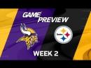 NFL Week 2 - Vikings at Steelers | LIVE | Тачдаун ТВ