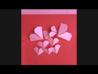 Открытка оригами на день матери, для детей