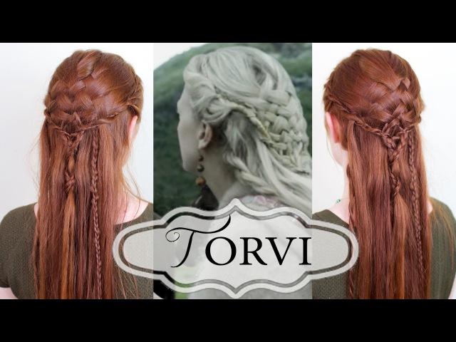 Vikings Hair Tutorial - Torvis Basketweave Style