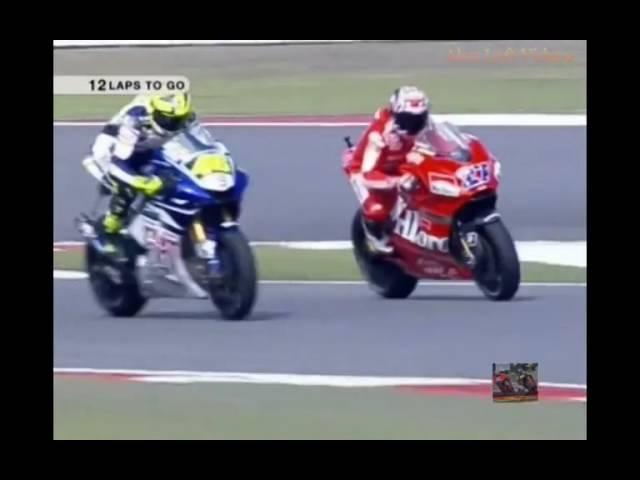 MotoGP China 2007 Valentino Rossi vs Casey Stoner