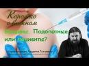 Пациенты или подопытные? Протоиерей Андрей Ткачев Вакцины и прививки