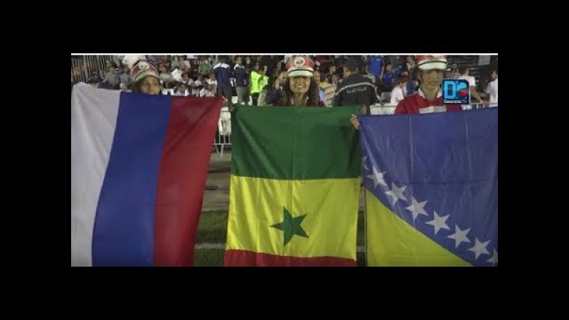 Mini foot Ambiance à Nabeul lors de la cérémonie d'ouverture