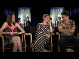 My FALLEN Interview with Lauren Kate, Addison Timlin, and Harrison Gilbertson