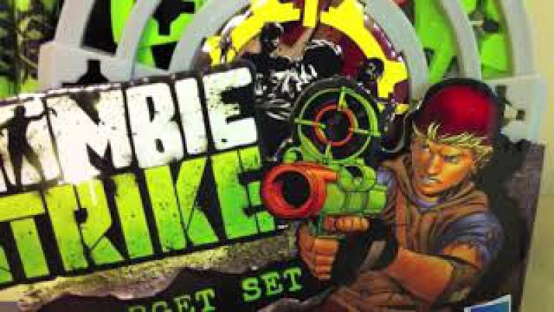 Нерф Зомби Страйк ZombieStrike Target Set бластер и три мишени Hasbro купить в Nerf-x.ru