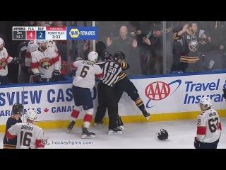 Alex Petrovic vs Jake McCabe Feb 1, 2018
