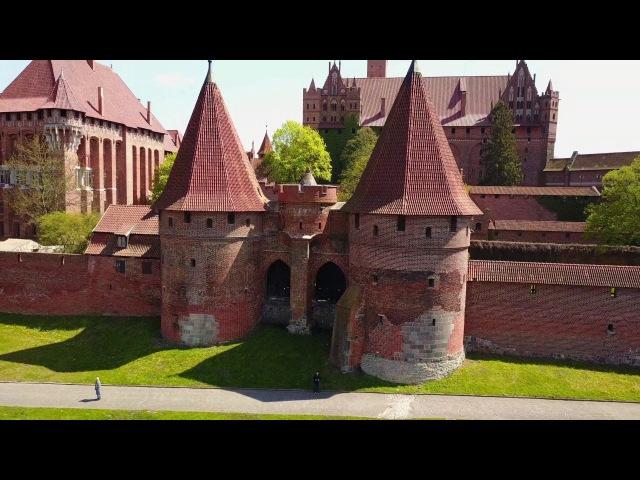 Poland 4K - Beautiful Amber city Gdansk Malbork Castle Drone Video. Dji Mavic Pro