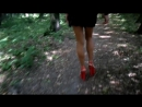 Walk In The Wood At Extremely High Heels 18 cm, In Mini Skirt (2)