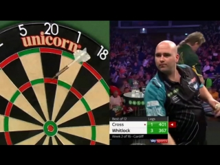 Rob Cross vs Simon Whitlock (2018 Premier League Darts / Week 2)