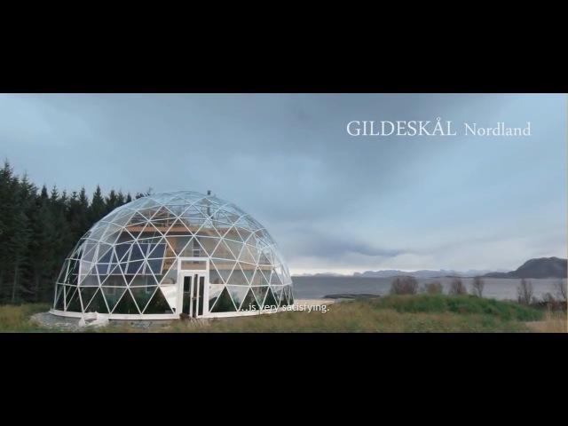 Саман под стеклянным куполом на севере Норвегии