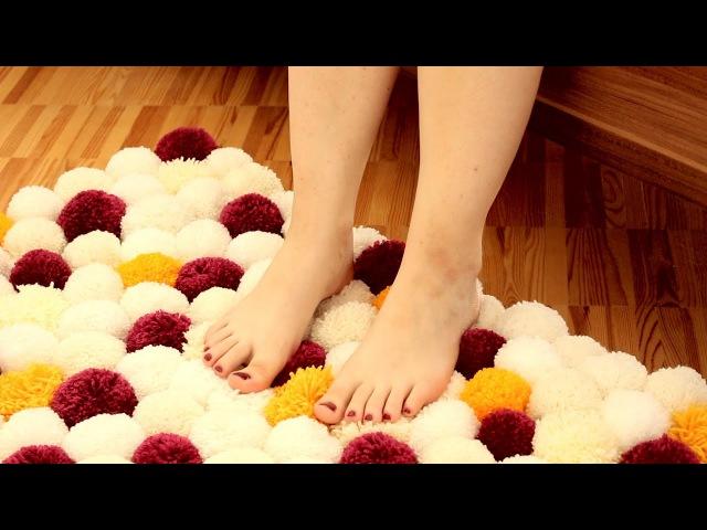 Bommel Teppich DIY Anleitung für einen weichen selbst gemachten Woll Vorleger
