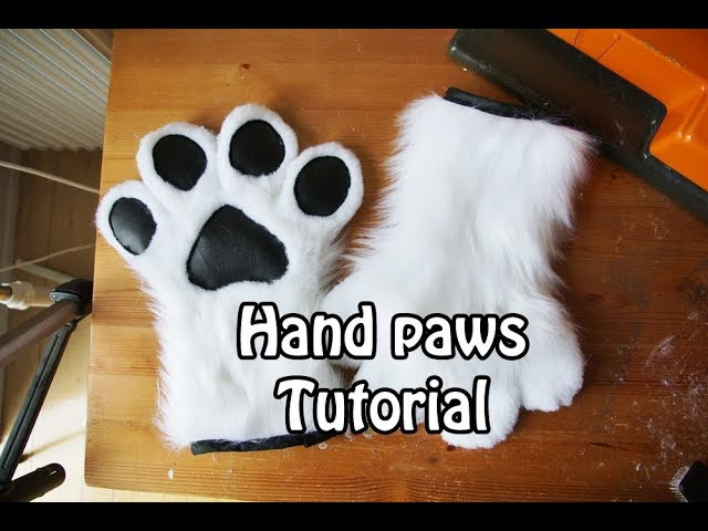 Tutorial 5 Hand Paws for Fursuits Cosplay PDF Pattern