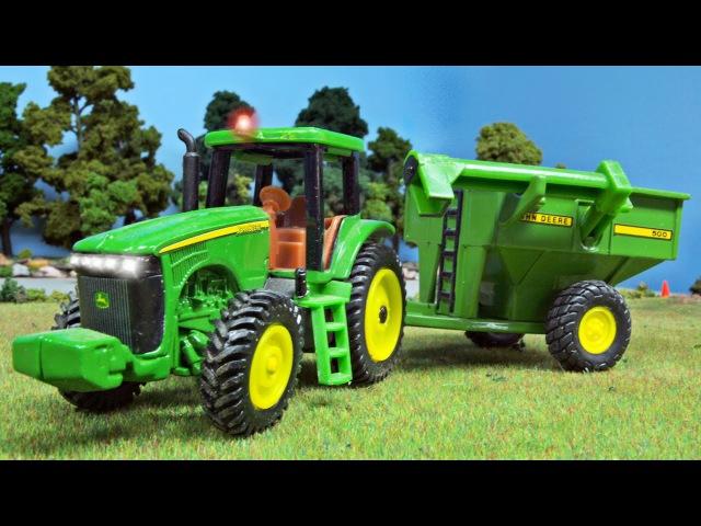 Traktor Mocny Traktorki z Przyczepą Bajki dla dzieci Maszyna rolnicza w Miasto