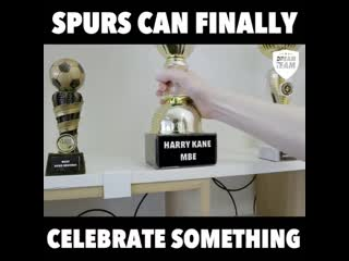 Harry Kane MBE That's another one for the trophy cabinet lads