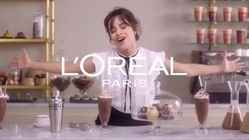 Camila Cabello fun fact on this commercial shoot they had a little spit bucket where I could pretend to eat the chocolate and t