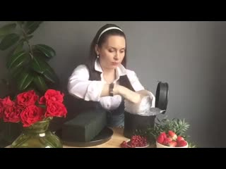 Розы в шляпной коробке мастер класс DIY
