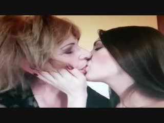 Hot young girl ugly old woman kissing